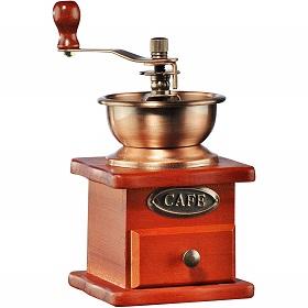 Holzmühle für Kaffee